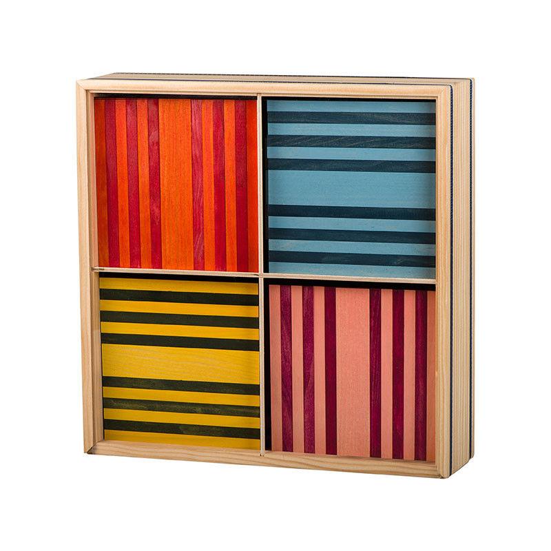 Kapla OctoFarbe 100er Box Pinienholz 8 Farben Bausteine NEU