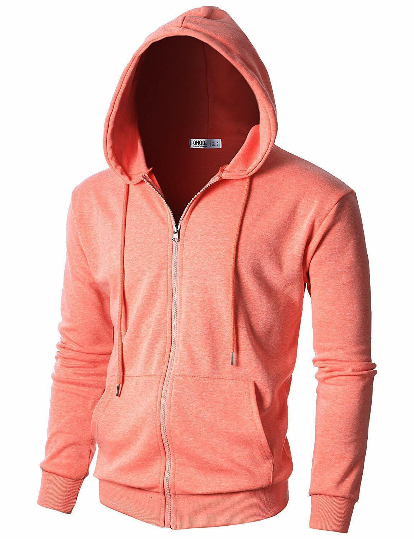 GIVON Mens Lightweight Crew Neck Sweatshirt with Three Pockets