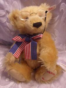 """Steiff Teddy Bears Teddy's Bear #7191 Plush Jointed Soft Toy Stuffed Animal 12"""""""