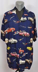 Details About Vtg Paradise Found Gm Motors Corvette Legacy Chevy Hawaiian Shirt Stingray C5