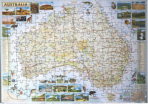 image is loading new childrens kids educational tray puzzle australian map