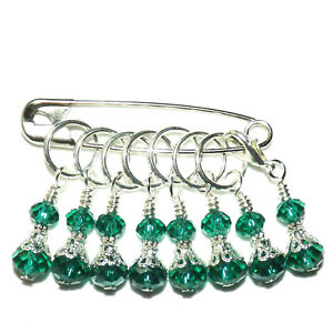 STITCH MARKERS HANDCRAFTED CROCHET // KNITTING ACCESSORIES SET OF 9  #344