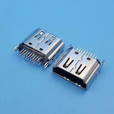 30Pcs HDMI 180 Degrees DIP Female Socket Two Row 19Pin PCB Solder Connector