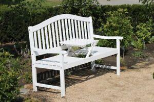 Garden Pleasure Bank Tisch Garten Terrasse Parkbank Sitzbank