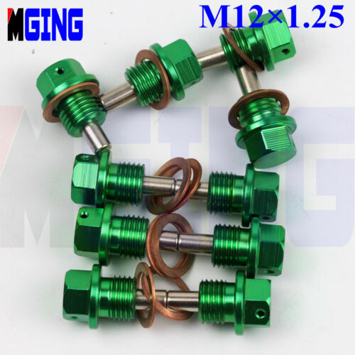 Drain Plug M12X1.25 Engine Magnetic Oil Pan Bolt Crush Washer Filter Adsorb GG