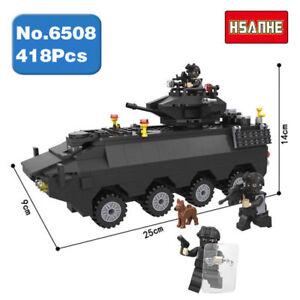 Bausteine-Militaerpolizei-SWAT-Armored-Car-Vehicle-Spielzeug-Toys-Gift-DIY-418PCS