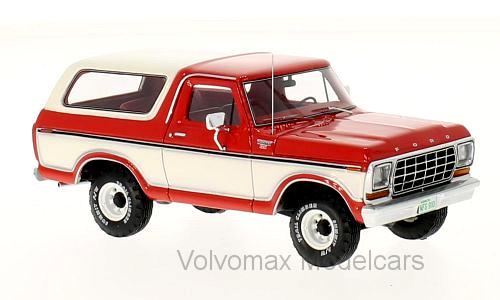 Wonderful NEO-resin-modelcar FORD BRONCO 1978 - bianca / rosso -  1/43 - lim.ed.700