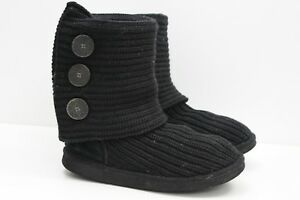 56a2d839694 Details about Womens UGG Australia BNIB Black Cardy Pull On Knitted Boots  Size UK 5.5, EUR 38