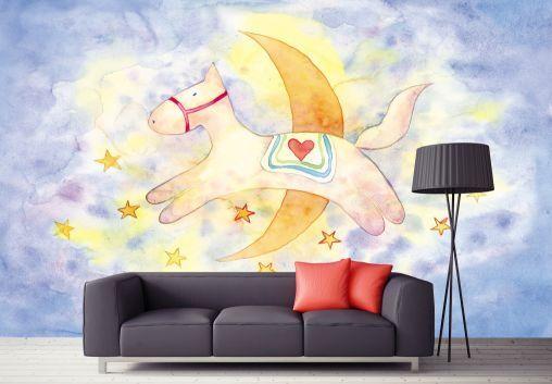 3D Handgemachte Pony 756 Fototapeten Wandbild Fototapete BildTapete Familie