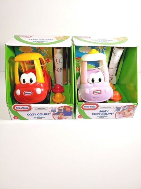 Little Tikes Toddlers Scribble Squad Set! 1 Cozy Coupe & 1 Fairy Cozy Coupe