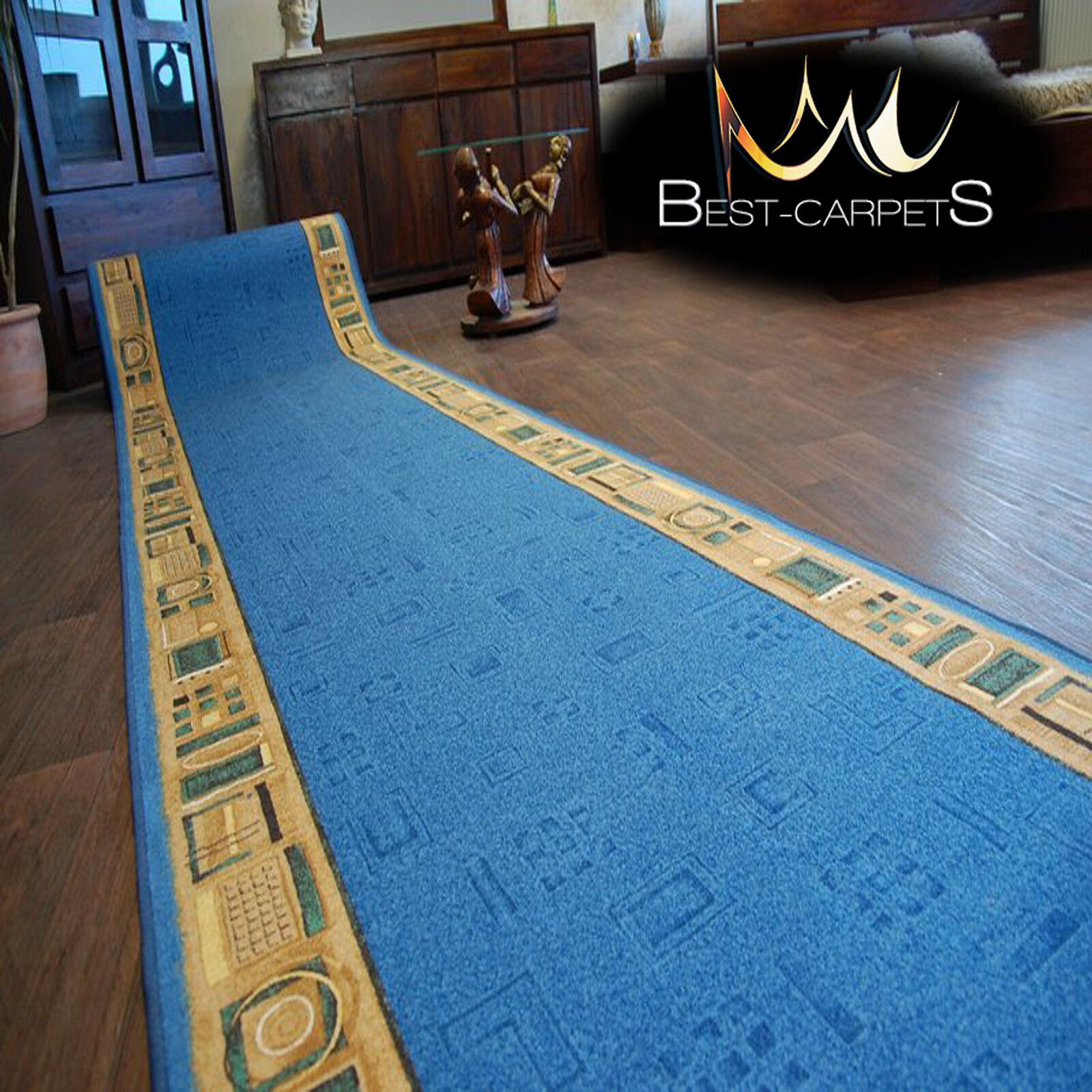 Chemin de Table Tapis,Jena Bleu,Moderne Anti-dérapant,Escaliers Largeur | Outlet Store Store Store Online  619ec6