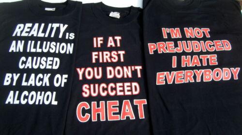 3 Mix T Shirt Transfert Fer Sur la chaleur de presse de gros Fun Slogan T-SHIRT IMPRIME