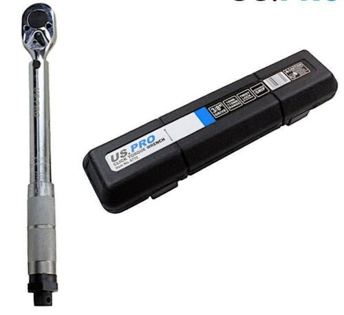 """8-80 ft//lbs 6770 U.S PRO 3//8/"""" Drive Click Torque Wrench 19-110 NM"""