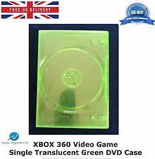100 X XBOX 360 videogioco singolo DVD Custodia Verde Traslucido COPERTURA DI RICAMBIO