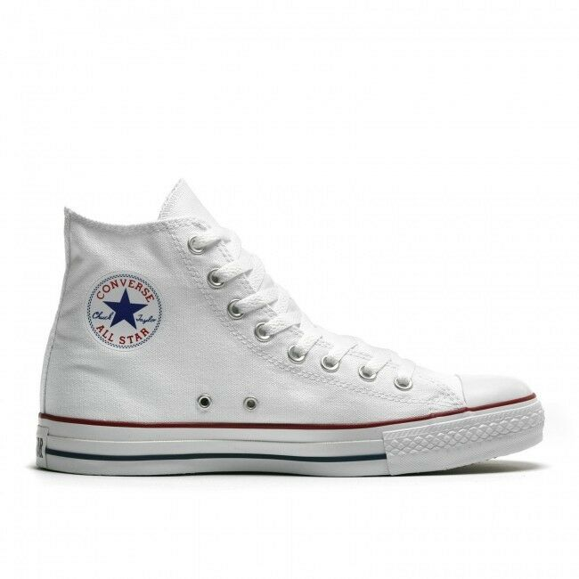 Converse All Star HI In Tela Chuck Taylor men women shoes Alte Scarpa white