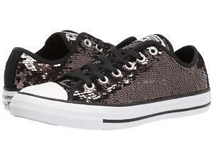 24dd37df1302f9 NIB Converse All Star OX Shoe Sneaker Gunmetal Black 557988C Womens ...
