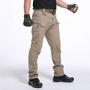 Mens-Waterproof-Tactical-Windproof-Trousers-Outdoor-Hiking-Combat-Sports-Pants