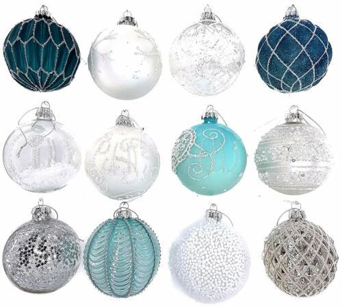 12 Luxus Weihnachtskugeln Christbaumkugeln Weihnachten Glas Weihnachtsdeko SetA8