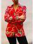 John-Zack-Blusa-Camisa-Top-en-Rojo-Cadena-de-impresion miniatura 2