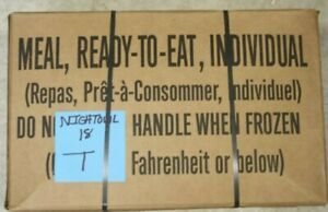 MRE Meals Ready to Eat Factory Sealed Case Fresh Date Emergency Case B T