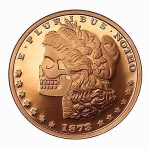 Morgana Zombie Morgan Silver Dollar 1 Oz 999 Fine Copper