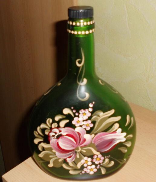 Flasche Handbemalt Lassen Sie Unsere Waren In Die Welt Gehen