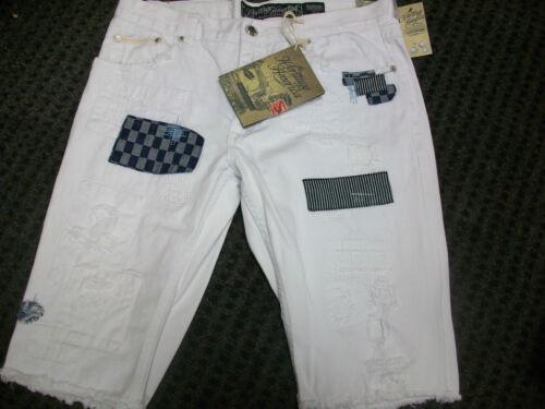 New Men/'s Heritage America Distressed White Denim Shorts Size 38 Brand New!