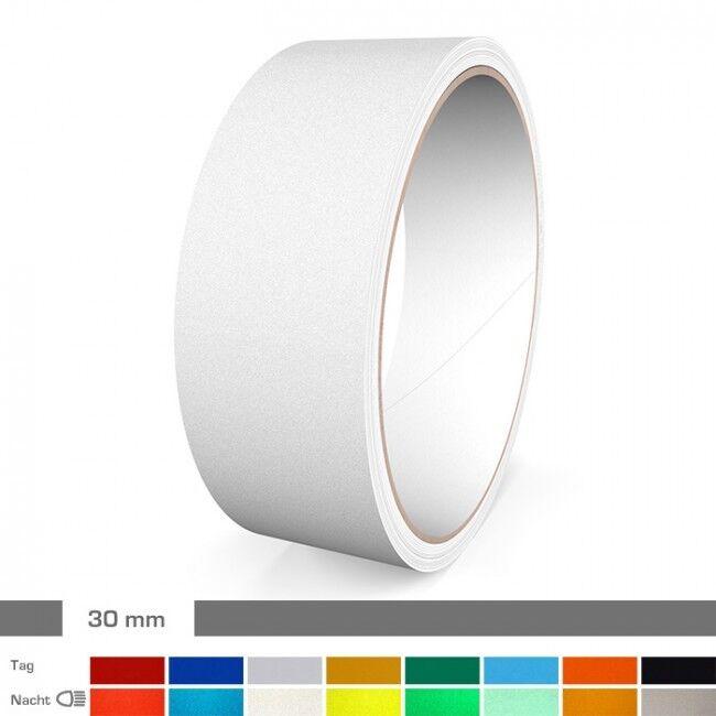 Reflektierender Zierstreifen 30 mm Rot Blau Weiß Gelb Grün Orange Schwarz  | Online Store