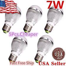 5x Super Bright High Power 7W 12V E27 Home LED Bulb RV Lights - E26 M
