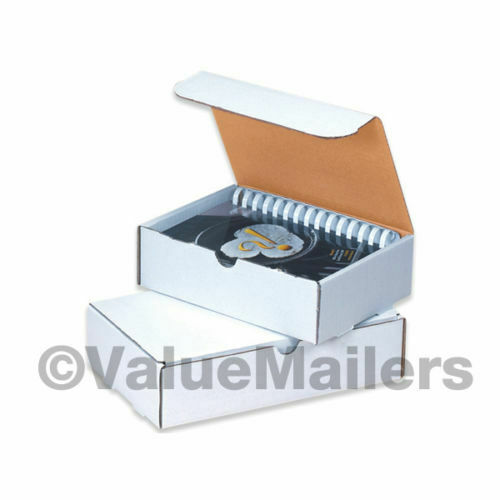 Literature Mailers White Corrugated Shipping Packing Protective Boxes 50 100
