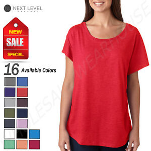 NEW-Next-Level-Junior-Fit-Triblend-Dolman-Sleeve-Relexed-Fit-T-Shirt-B-6760