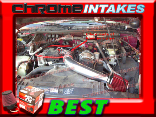 """K/&N+RED 98-03 CHEVY S10 S-10 ZR2//XTREME//HOMBRE//SONOMA 2.2L COLD AIR INTAKE 3/"""""""