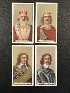 1898-Wills-s-Cigarettes-Kings-amp-Queens-Of-England-Gray-Back-Tobacco-Card-Lot