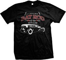 Genuine Rat Rod Drive Hard Hot Spark Plugs Classic Car Star Men/'s V-Neck T-Shirt