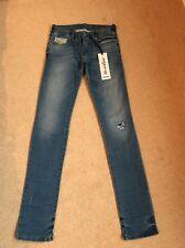 NEW Women's Diesel Grupee-NE Skinny Destroyed Jogg Jeans W23 L32 (1125)