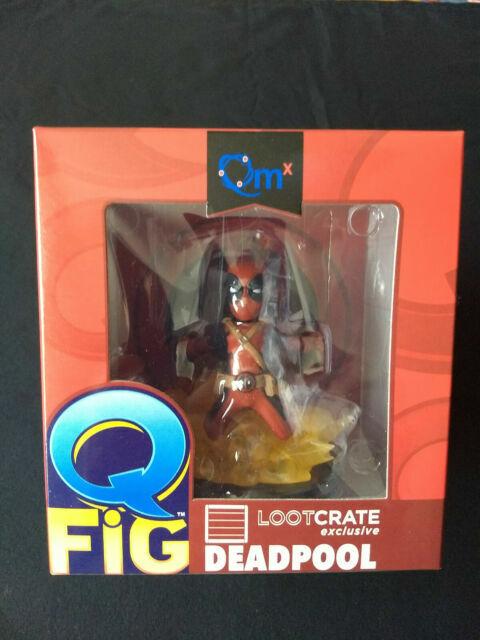 New Loot Crate Exclusive Marvel Q Fig DEADPOOL Vinyl Figure Qmx 2015