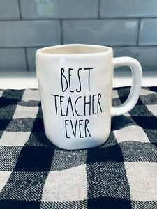 NEW-RAE-DUNN-BEST-TEACHER-EVER-MUG-LL-LARGE-LETTERS