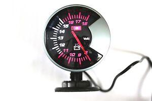 GAUGE-VOLT-METER-CAR-DIAL-LED-LIGHT-WHITE-LED-2-34-034-INCHES-60mm-Kg-cm