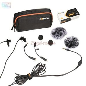 COMICA-2-5M-Dual-head-Lavalier-Microphone-MIC-for-DSLR-Camera-iPhone-GoPro