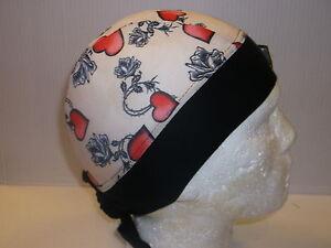 Schampa-Zandana-Herz-amp-Rosen-Tattoo-Muster-Motorrad-Kopfbedeckung-bc35174-T