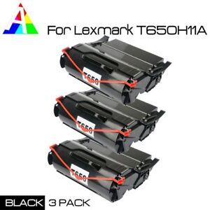 3-PK-Black-Toner-For-Lexmark-T650-T652-T654-T656-T650N-T656DNE-T650H21A-T650H11A