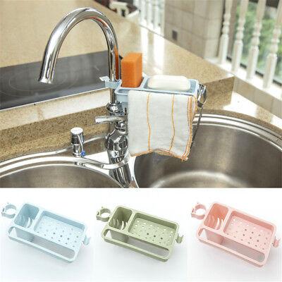 Kitchen Sink Sponge Holder Storage Organizer Basket Drainer Rack | eBay