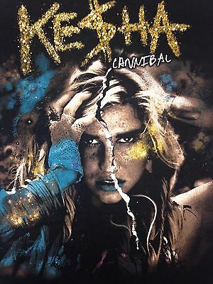 Kesha Ke$ha Cannibal Get Sleazy 2011 Tour Black T Shirt New Official Merch