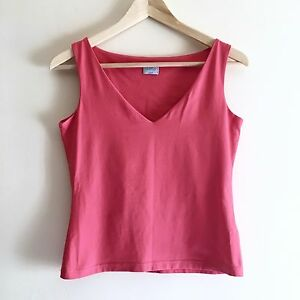 8ef166d6be NEON PINK OASIS BLOUSE - Size 12 | V Neck, Sleeveless, Top, Work ...