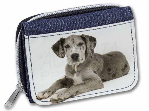 Great Dane Girls//Ladies Denim Purse Wallet Christmas Gift Idea AD-GD2JW