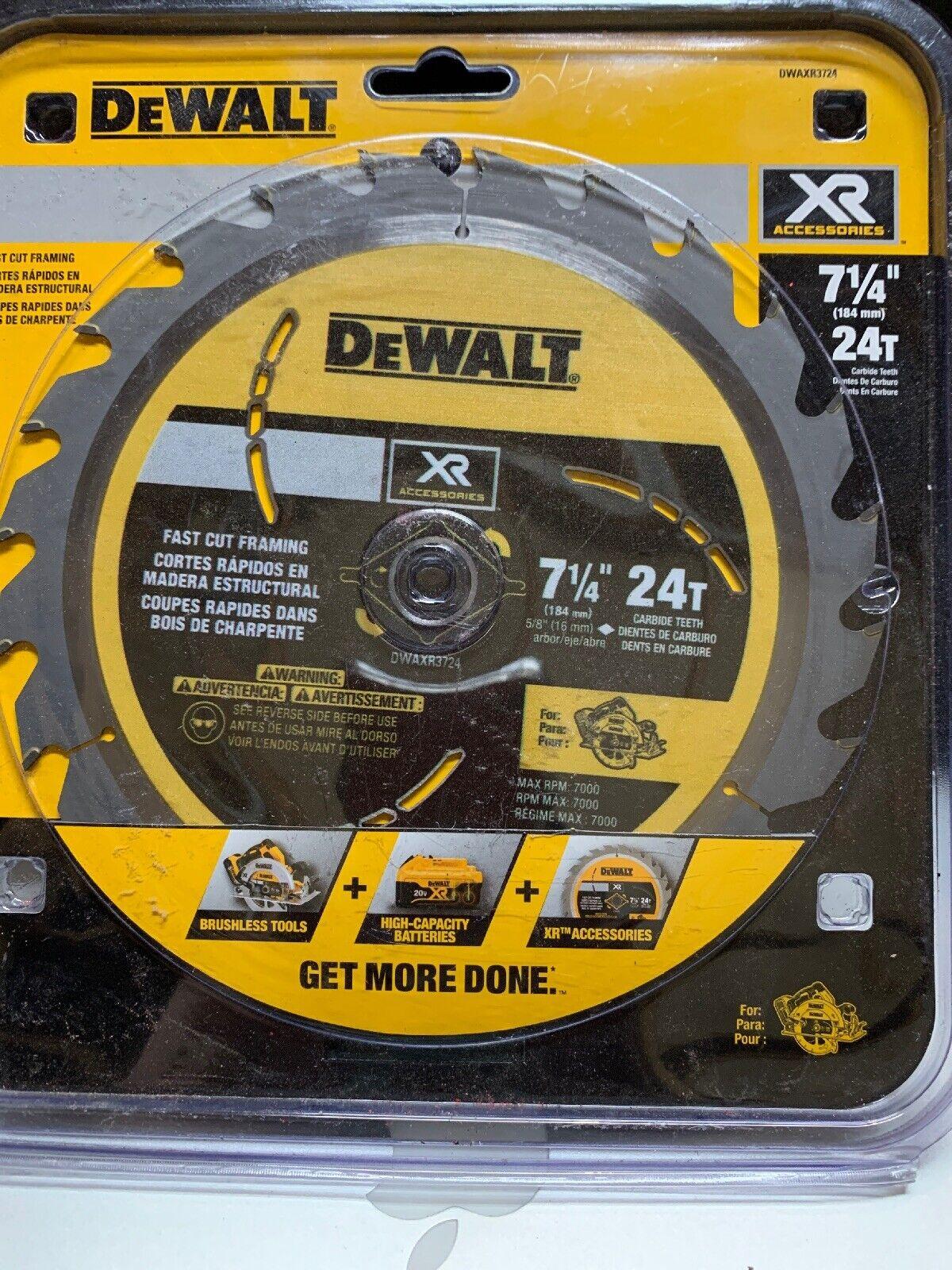 DEWALT XR 7-1 4-in 24-Tooth Framing Carbide Circular Saw Blade Lot Of 11 Blades
