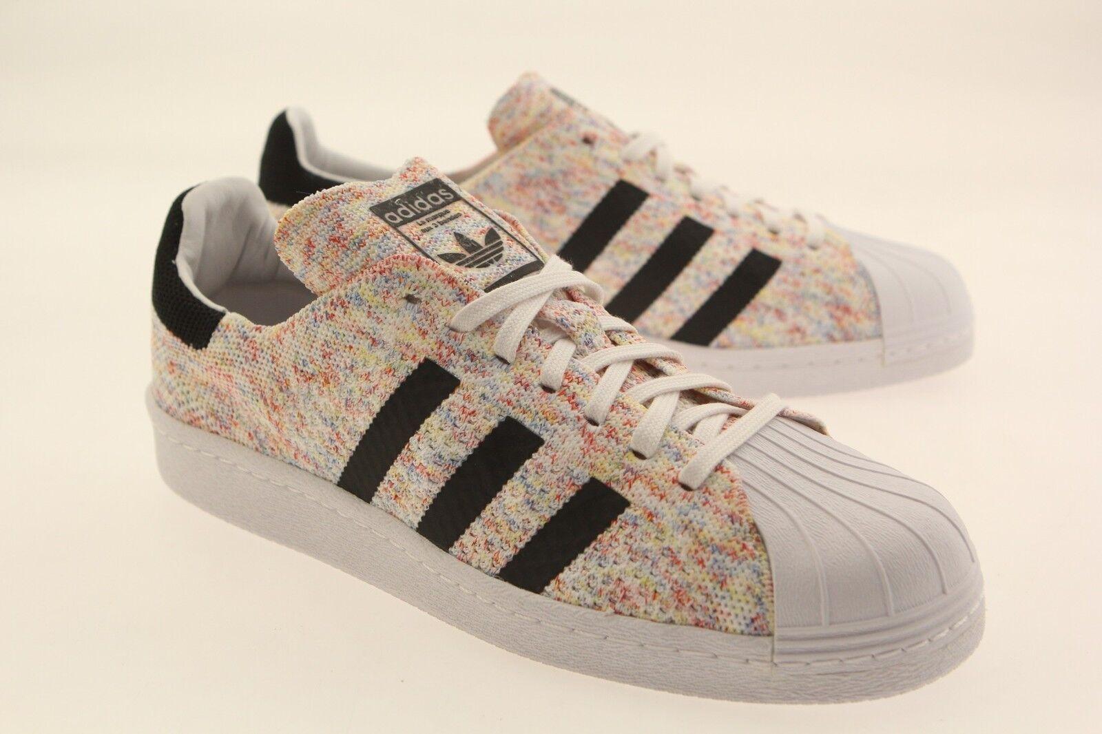 Adidas Men Superstar 80s Primeknit white footwear white core black S75845