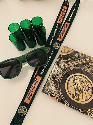 6 Plastic Shots Brand New Sunglasses Bandana /& Lanyard Jagermeister Bundle