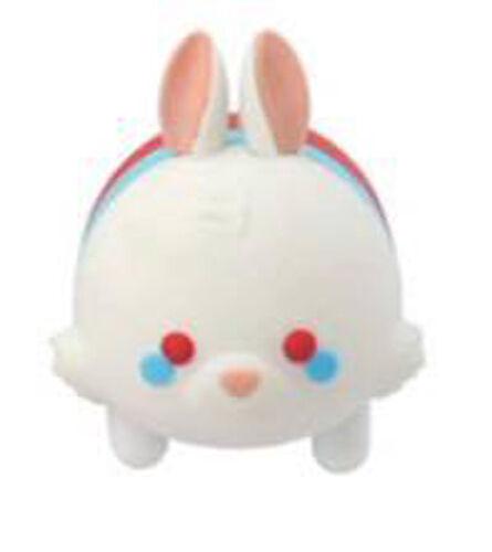 Disney Alice in Wonderland White Rabbit Tsum Tsum Figural Rubber Key Chain