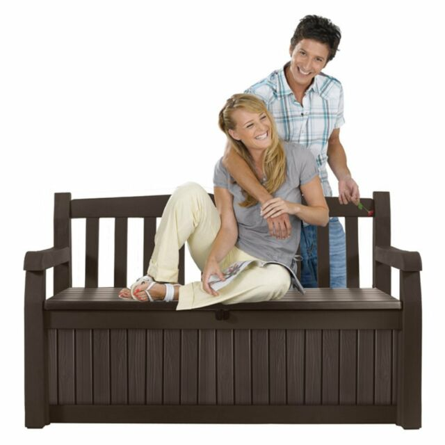 Fabulous Keter Eden 70 Gal All Weather Outdoor Patio Storage Bench Deck Box Brown New Lamtechconsult Wood Chair Design Ideas Lamtechconsultcom